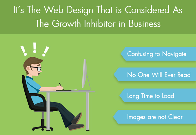 The web design that is considered as the growth inhibitor in business